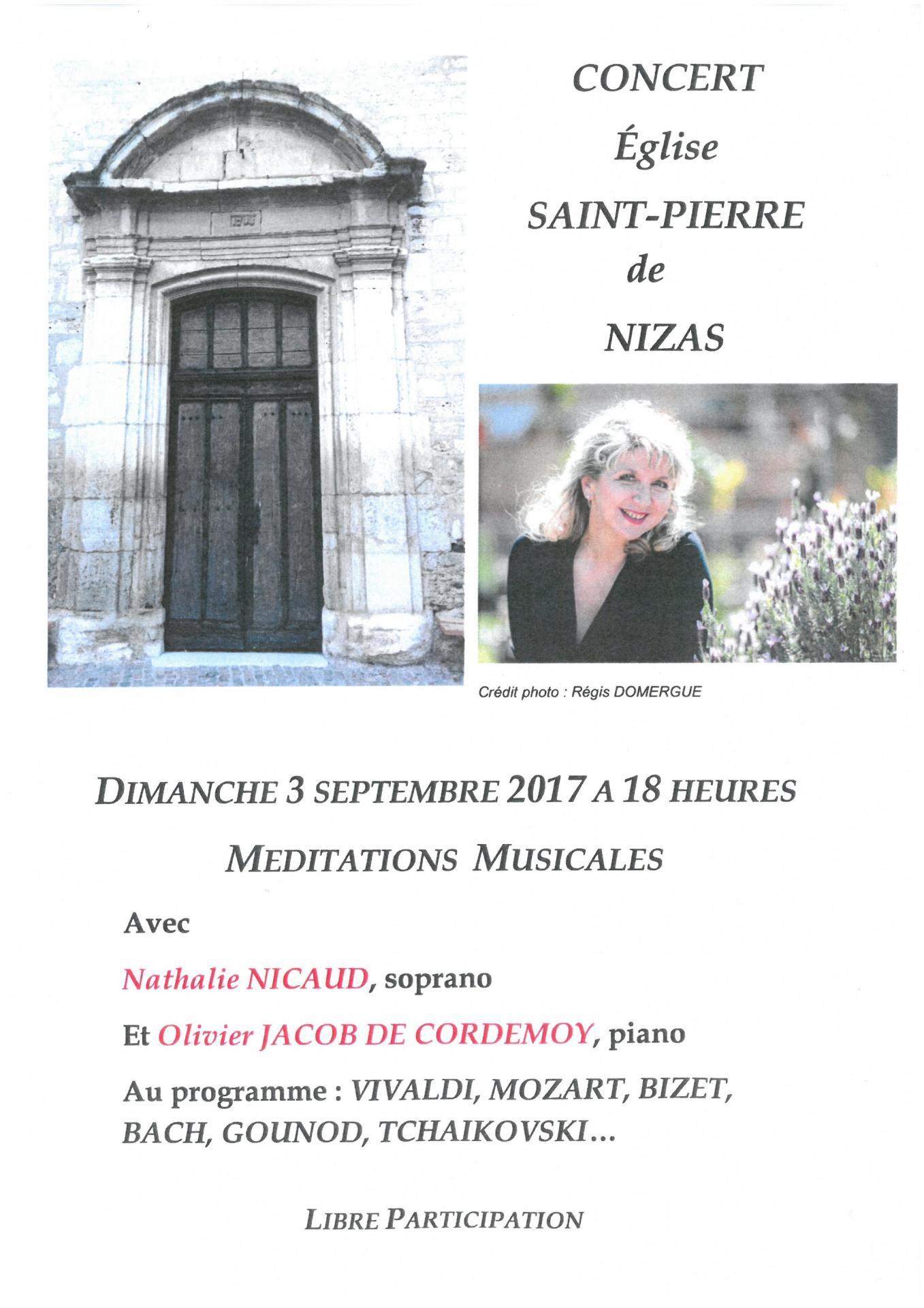 Nizas affiche concert eglise dimanche 3 septembre 2017 a 18h00dd